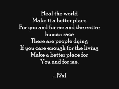 Heal the world by Jackson - Free MP3 Download