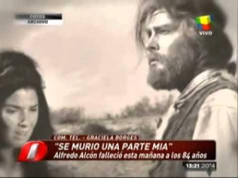 Borges, destrozada por la muerte de Alcón