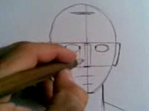 How to draw man's portret