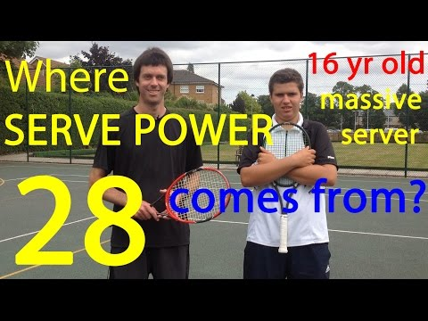 Tennis - Project 15 - Video 28 - Where does serve power come from?