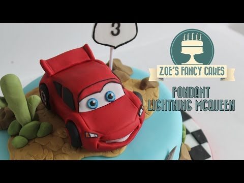 Making a Fondant Lightning McQueen From Disneys Cars How To Tutorial