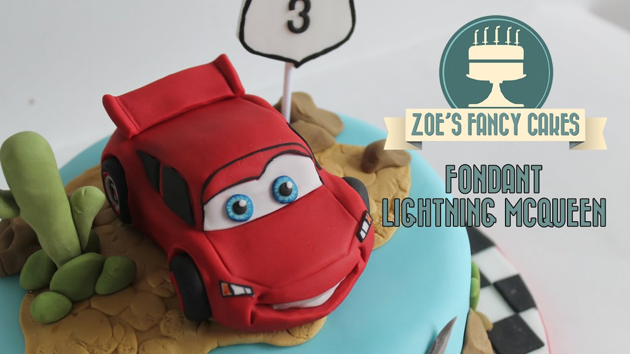 Making A Fondant Lightning Mcqueen From Disneys Cars How