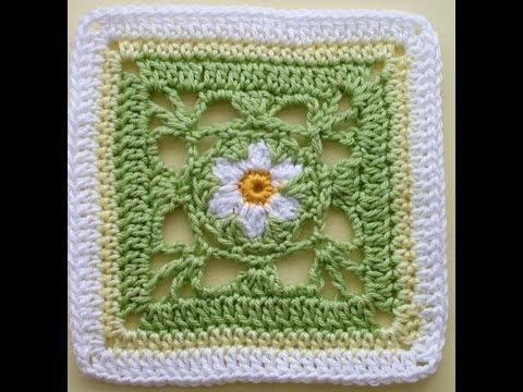 Crochet Stitches Granny Square Youtube : How to Crochet * Granny Square Springtime - YouTube