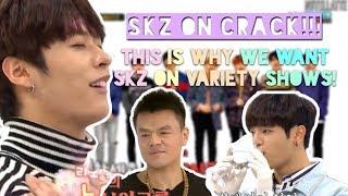 stray kids being variety show geniuses on weekly idol