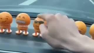 Cute Smile Doll Car Ornament Emoji Shaking Head Car Automobile Interior Dashboard Decoration