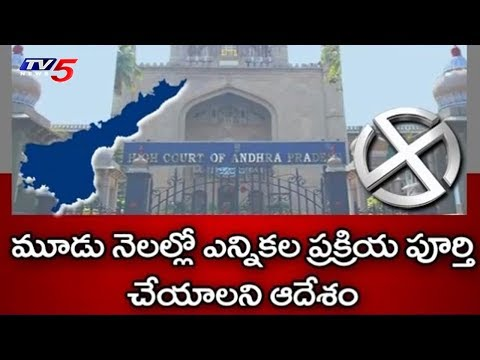 High Court Orders AP Panchayat Elections to be held Within 3 Months | AP Politics | TV5 News