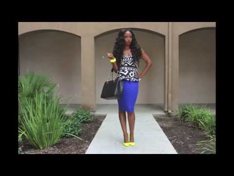 GET READY WITH ME: NEON YELLOW & NAVY BLUE