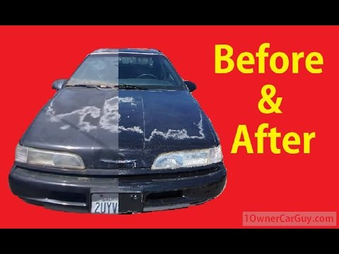 How To Buff Polish Cars Detailing DIY Car Detail Before & After Tips Video #7