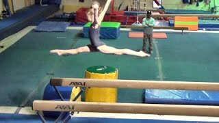 Whitney - Level 7 Gymnastics Practice Meet (scored 39.05)