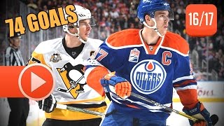 Sidney Crosby vs Connor McDavid 2016-2017 NHL Duel Highlights. 74 Goals Total. (HD)