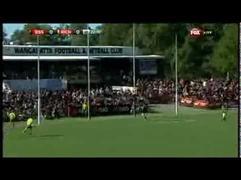 Matt White Kicks A Supergoal - AFL - Smashpipe Sports Video