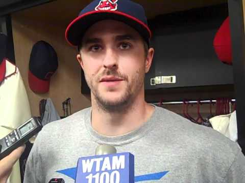 June 18, 2012: Lonnie Chisenhall after 10-9 win over Reds