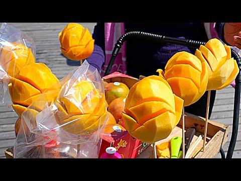 New York City Street Food - Mango Flower with Chili