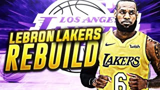 LEBRON JAMES SIGNS WITH THE LAKERS REBUILD! NBA 2K18