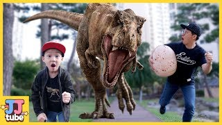 티라노 알을 갖고 뛰어라! 플레이모빌 탐험가 시리즈 티라노와 비밀의 사원 스테고사우르스 랩터 공룡 피규어 장난감 놀이[제이제이 튜브-JJ tube]