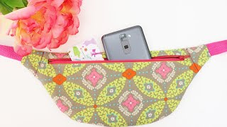 How to sew a Flat Fanny Pack: Detailed Instructions by learncreatesew