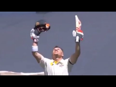 David Warner Test Century at Adelaide Oval | First Test | Australia vs India 2014/15