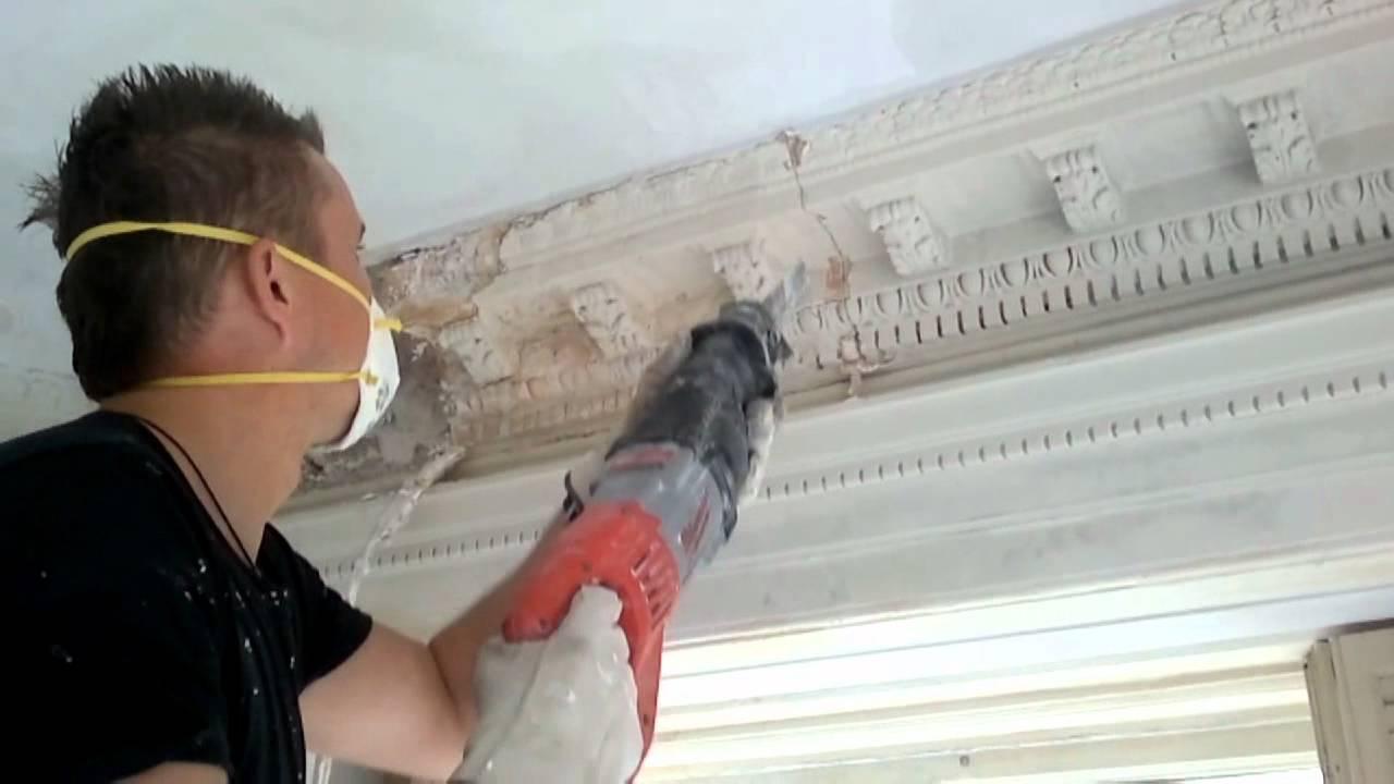 Repair Plaster Crownmolding Youtube
