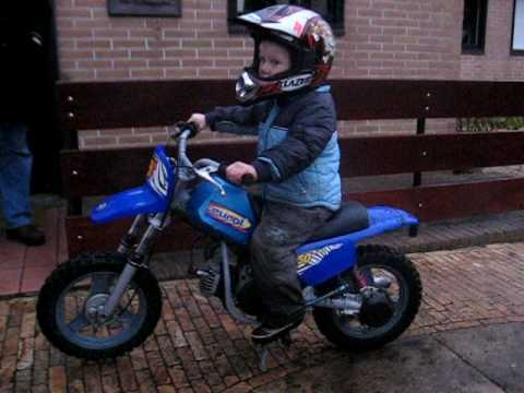 Luca's first testday on the Yamaha PW 50 Video