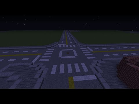 Minecraft How to build a City Part 1 Building the Road!