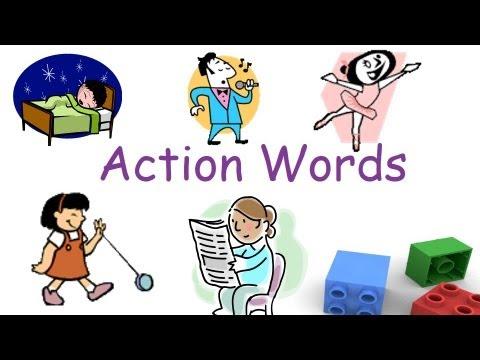 Action words and Verbs for preschool and kindergarten children