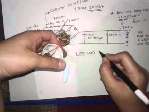 How To Make China Led Bulb-part1 (build Power Supply)