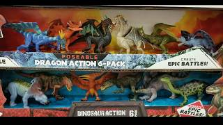 Costco! Poseable DINOSAUR ACTION / DRAGON ACTION - 6 Pack! $13!!!
