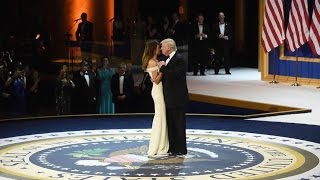 President Donald Trump and Melania Trump at Armed Services Inauguration Ball