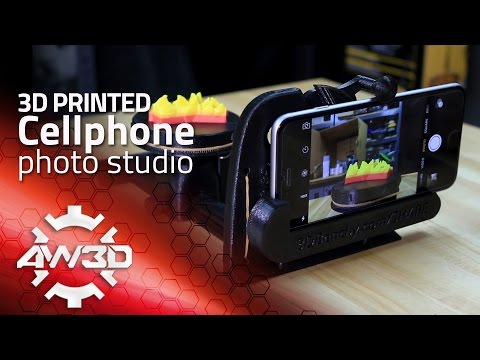 3d printer in action, 3D printed cellphone photo studio