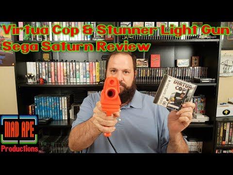 Virtua Cop & Stunner Light Gun Sega Saturn Review