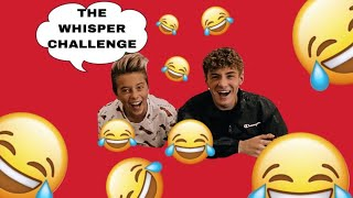 The Whisper Challenge!!! Ft. Gavin Magnus 😂🤣😂 || Mikey Tua