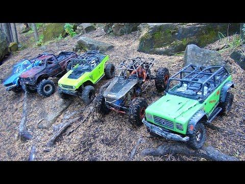RC ADVENTURES: Rough & Crush: Group Trail Gathering: Radio Control Scale 4x4 Trucks