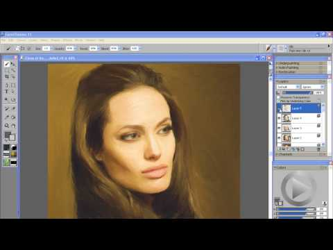 Angelina Jolie Photo Painting   Corel Painter 11 Tutorial