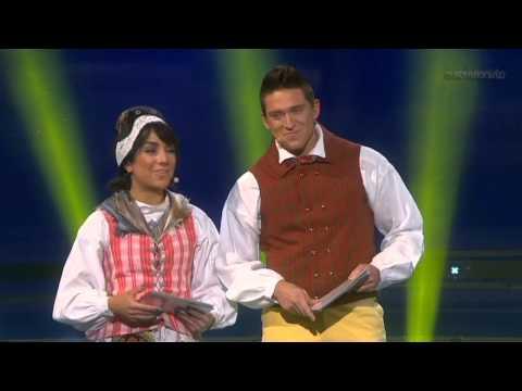 Eurovisionöppning med Petra Mede, Danny och Gina (Melodifestivalen 2013)