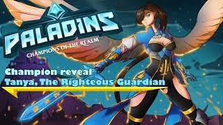Paladins Fan Champion Reveal - Tanya, The Righteous Guardian
