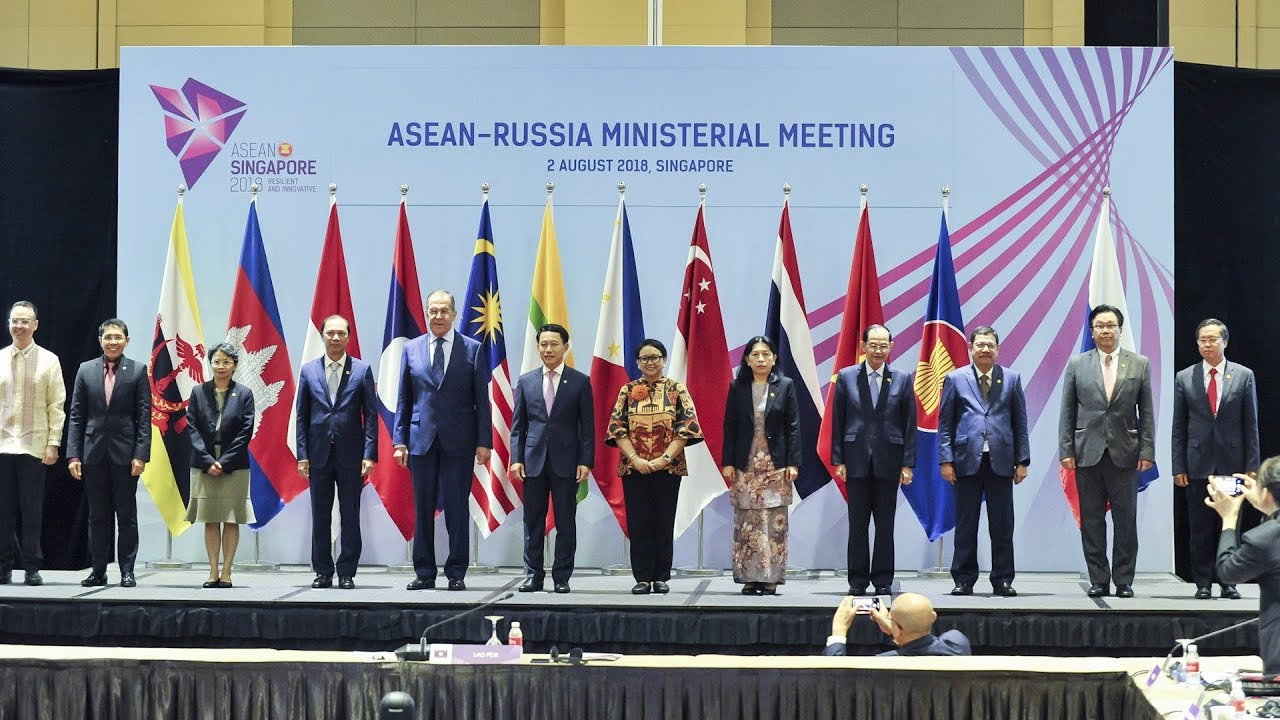Asean foreign ministers' summit attended by US and China focuses on trade pressure