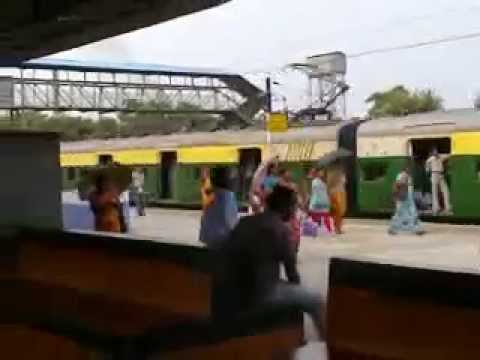 Pakistani Local Train Coming On Platform video