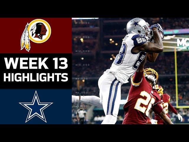 Redskins vs. Cowboys  NFL Week 13 Game Highlights