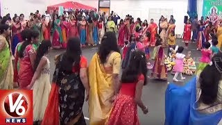 Telangana NRI's Celebrates Bathukamma Festival In Ireland, Women Performs Traditional Dance