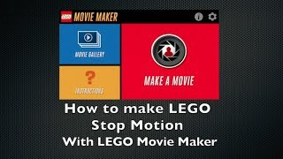 How to make LEGO Stop Motion Videos with LEGO Movie Maker App - Cheep Jokes