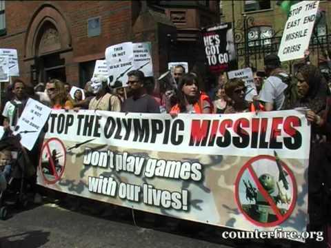 """Englezii protestează contra """"militarizării"""" Jocurilor Olimpice"""