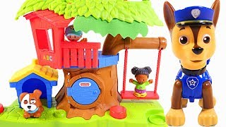 Mejores Videos Para Niños - Paw Patrol Chase Little People Swing & Share Treehouse fun For Kids
