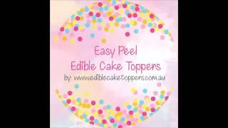 Easy Peel Edible Cupcake Toppers