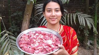 Mutton Curry Recipe   Village Style   Cooking By Street Village Food