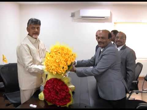RTI ACT COMMISSIONERS MET AP CM AT RESIDENCE ON 29102018
