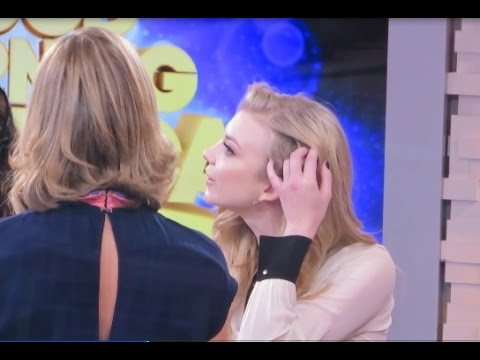Natalie Dormer shows her shaved head to Lara Spencer & talks The Hunger Games