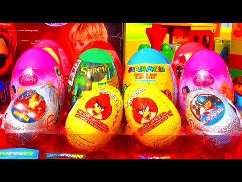 12 Surprise Eggs SpongeBob Angry Birds Disney Barbie Super Mario Bros Power Rangers Hello Kitty