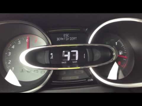 Renault Clio RS 0-100 km/h Launch Control Start  EDC (No DSG) New 2013