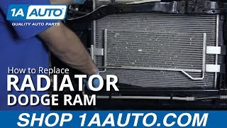 How to Install Replace Radiator 2004-08 Dodge Ram 5.7L BUY QUALITY AUTO PARTS AT 1AAUTO.COM