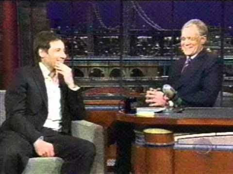 David Duchovny Late Show